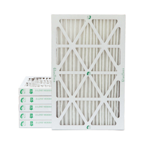 """16x25x2 MERV 8 Pleated 2"""" Inch Air Filters for HVAC Systems. 6 Pack"""