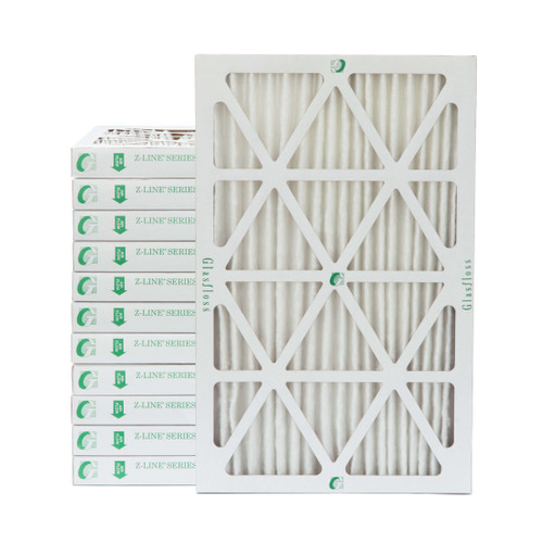 """16x25x2 MERV 8 Pleated 2"""" Inch Air Filters for HVAC Systems. Case of 12"""