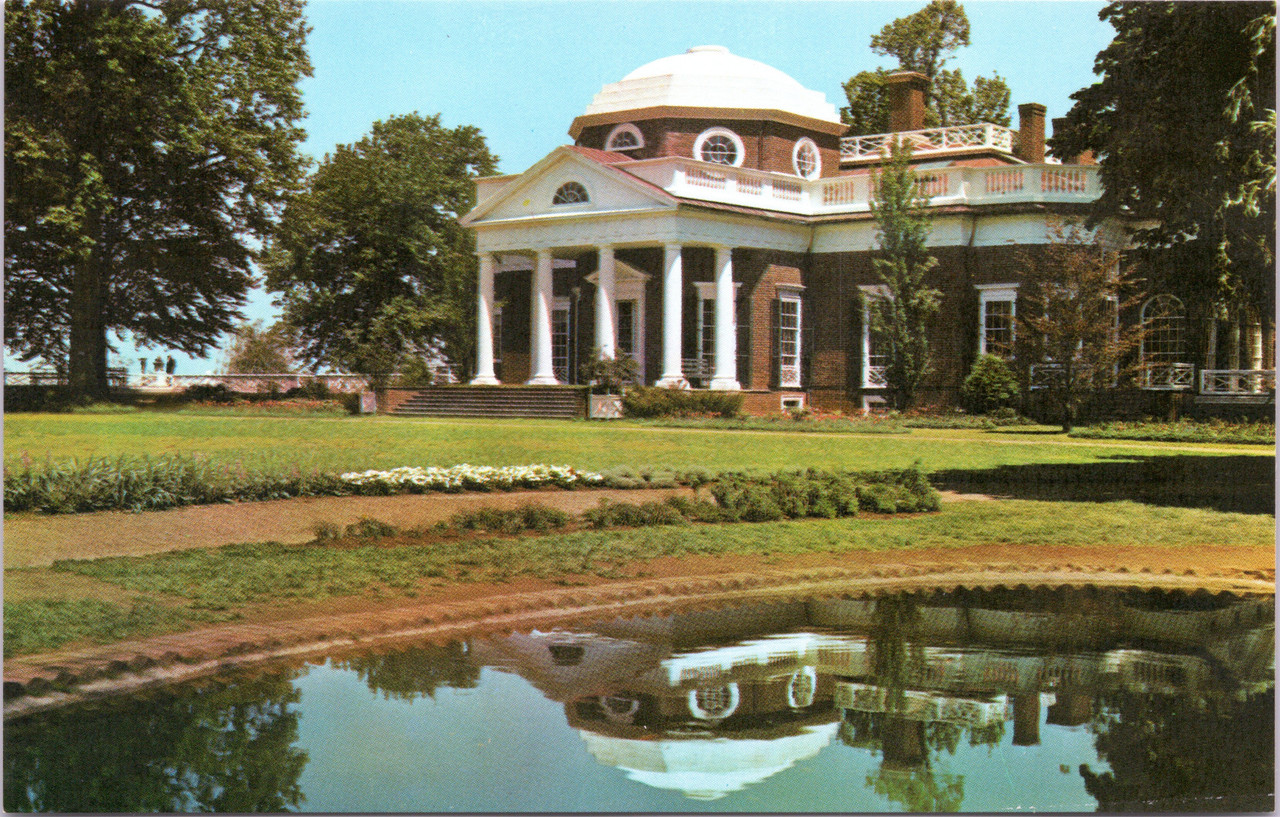 Pleasing Monticello Home Of Thomas Jefferson West Front Showing Fish Pond Home Interior And Landscaping Synyenasavecom