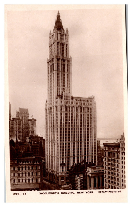 Woolworth Building New York Rotary Photo  E.C.