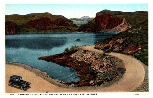 """Apache Trail"" Along the Shore of Canyon Lake, Arizona"