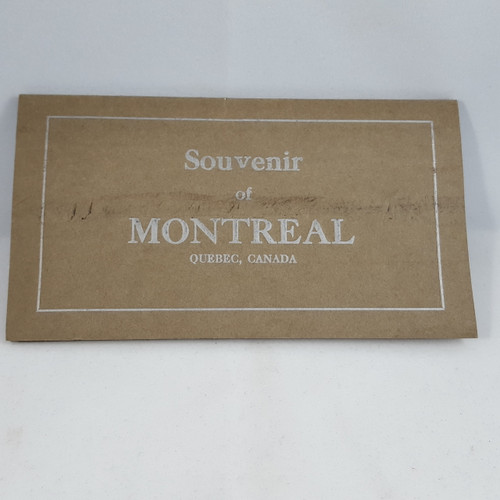 Souvenir of Montreal Fold-out  Photo card book.