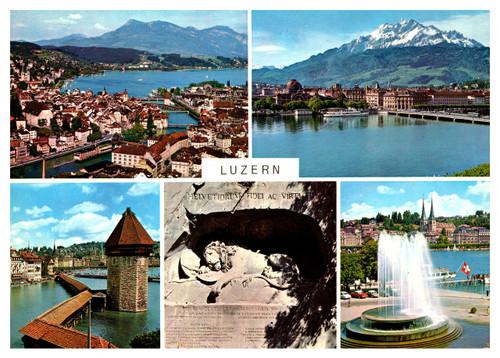 1960-70s postcard of Luzern Switzerland