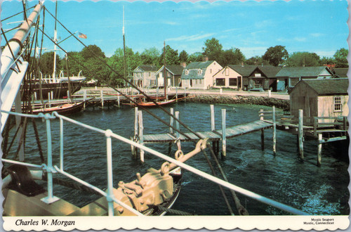 Charles W. Morgan in Harbor at Mystic Seaport