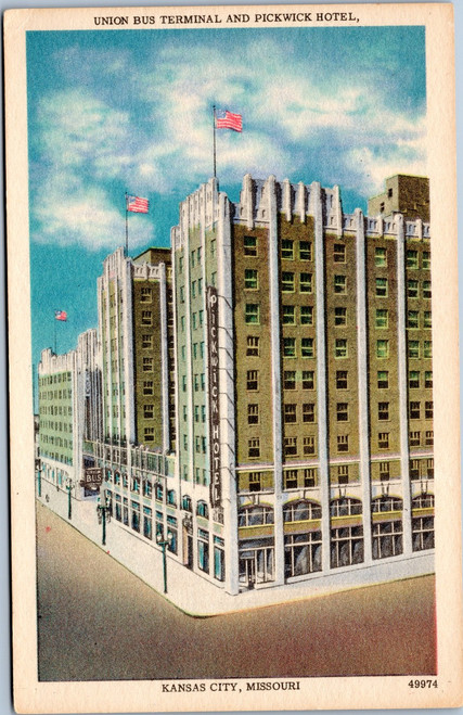 Union Bus and Pickwick Hotel