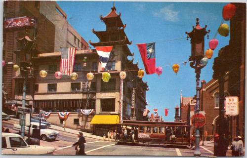 Chinatown trolley San Francisco 1960s