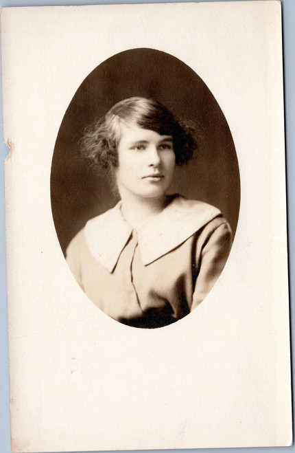 rppc female portrait