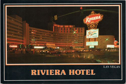 The Riviera hotel at night