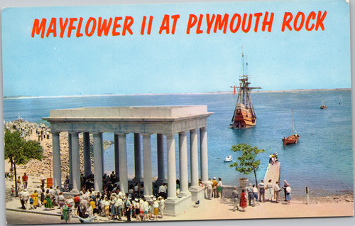 Mayflower II at Plymouth Rock