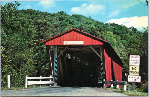 Everett Road Covered Bridge - Boston Township - Ohio