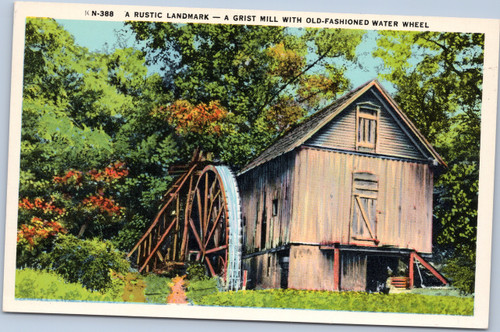 Grist Mill with Water Wheel