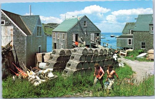 Maine fishing village