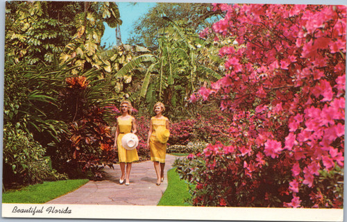 Women walking amid Azaleas at Sunken Gardens