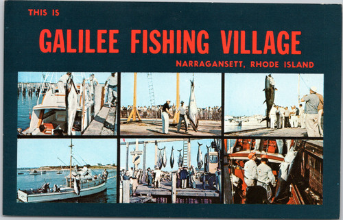 Galilee Fishing Village multi-view postcard