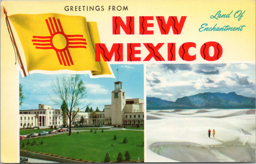Greetings from New Mexico tourist postcard