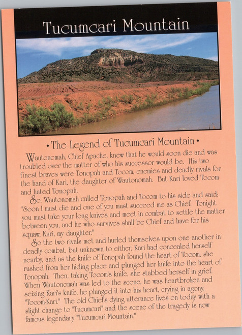 The Legend of Tucumcari postcard