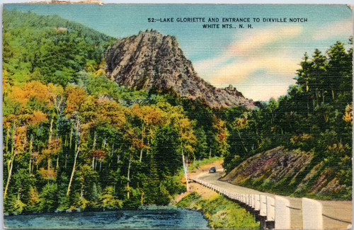 Lake Gloriette and Entrance to Dixville Notch,
