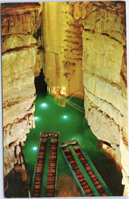 Crystal Lake in Mammoth Cave, Kentucky
