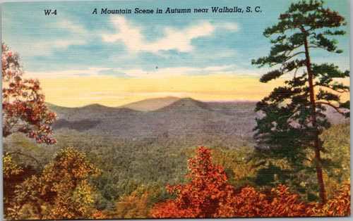 A Mountain Scene in Autumn near Walhalla