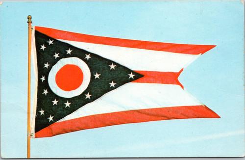 State of Ohio flag postcard