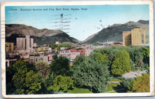 Business Section and City Hall Park, Ogden, Utah