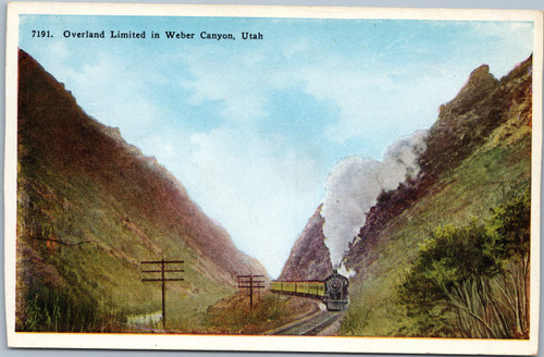 Overland Limited in Weber Canyon, Utah