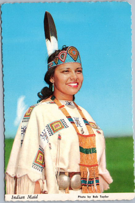 Native American woman in traditional dress