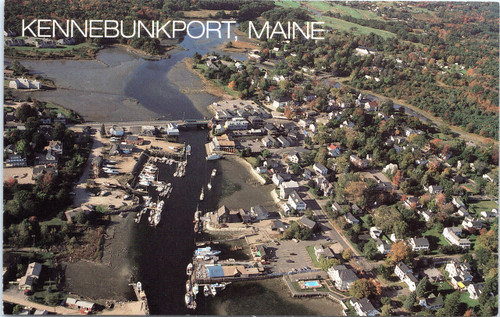 Kennebunkport Aerial - Kennebunk River at low tide