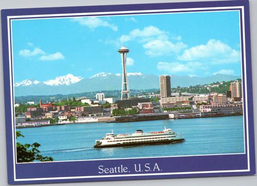 Seattle Space Needle Elliot Bay