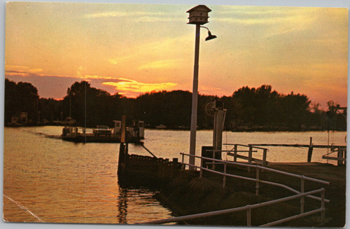 Bemus Point ferry sunset