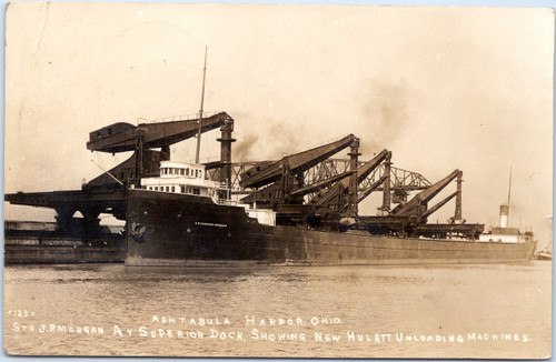 Steamer J. Pierport Morgan at Superior Dock in Ashtabula Harbor