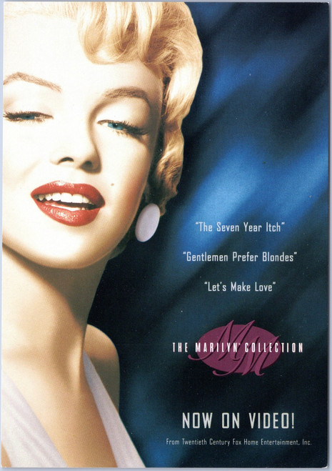 The Marilyn Collection advert postcard