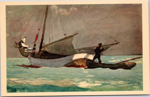 Stowing Sail, Bahamas by Winslow Homer
