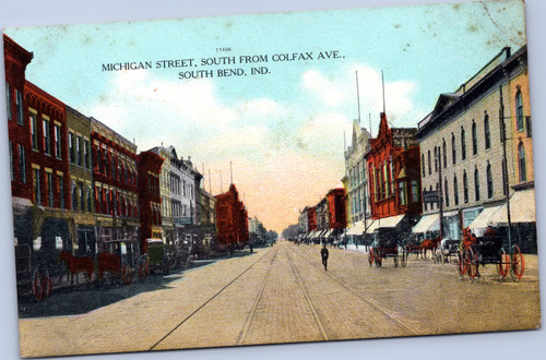 Michigan Street south From Colfax Ave, South Bend