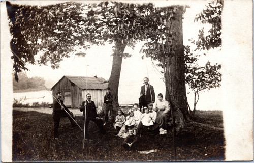 Family in Sunday Best fishing c1909-1911