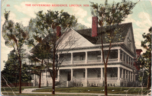 Governor's residence, lincoln nebraska circa 1900s