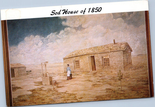 Sod House of 1850 - House of Yesterday
