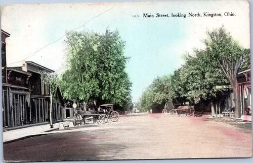 Main Street, Kingston, Ohio 1900s