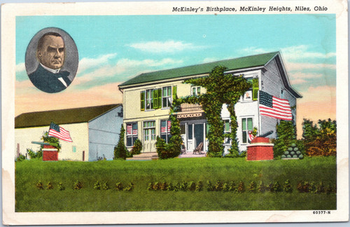McKinley's Birthplace, McKinley Heights, Niles, Ohio