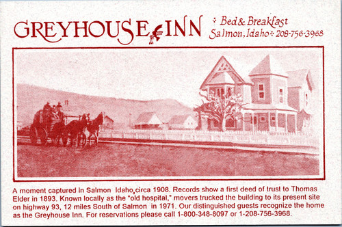 Greyhouse Inn, Bed & Breakfast, Salmon, Idaho