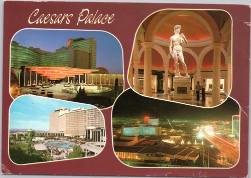 Caesars Palace multi-view postcard