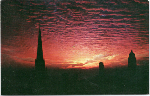Sunrise over First Methodist Church, Chicago