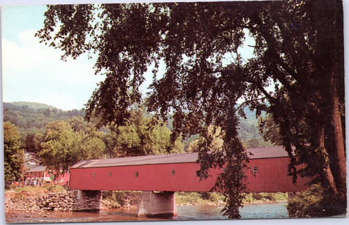 Covered Bridge at West Cornwall over Housatonic River