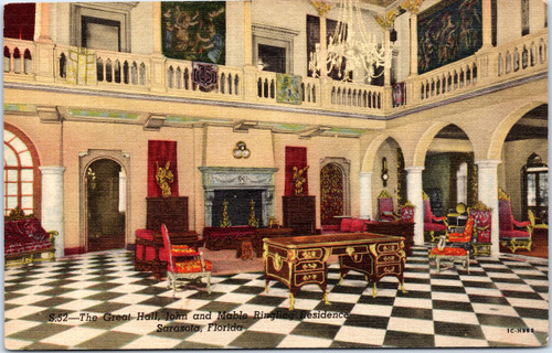 The Great Hall, John and Mable Ringling residence