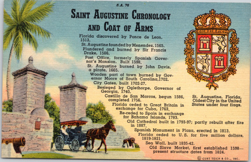 Saint Augustine Chronolgy and Coat of Arms