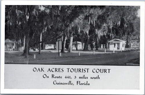 Oak Acres Tourist Court, Gainesville Florida