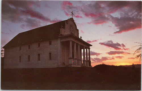 Sunset at Old Cataldo Mission, Sacred Heart, Coeur d'Alene