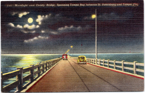 Gandy bridge at night