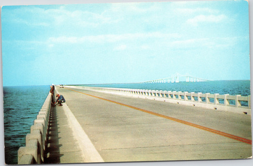 Fishing off Sunshine Skyway Bridge