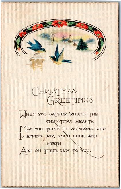 christmas bluebirds